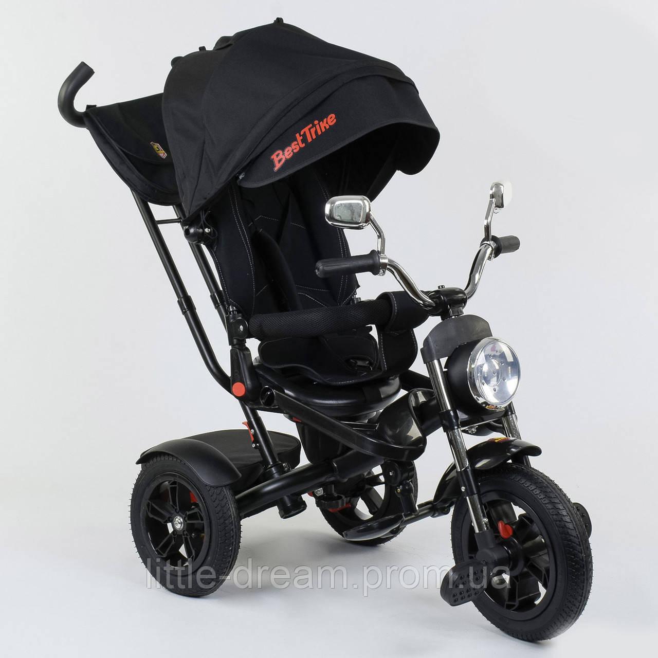 Велосипед 3-х колёсный Best Trike 4490 - 7009, поворотное сиденье, складной руль, русское озвучивание, надувные колеса, пульт включения звука и света