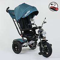 Велосипед 3-х колёсный Best Trike 4490 - 2209, поворотное сиденье, складной руль, русское озвучивание, надувные колеса, пульт включения звука и света, фото 1