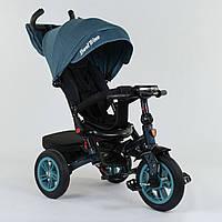 Велосипед 3-х колёсный Best Trike с поворотным сиденьем 9500 - 7474, складной руль, русское озвучивание, надувные колеса, свет