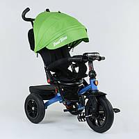 Велосипед 3-х колёсный Best Trike с поворотным сиденьем 9500 - 3142, складной руль, русское озвучивание, надувные колеса, свет