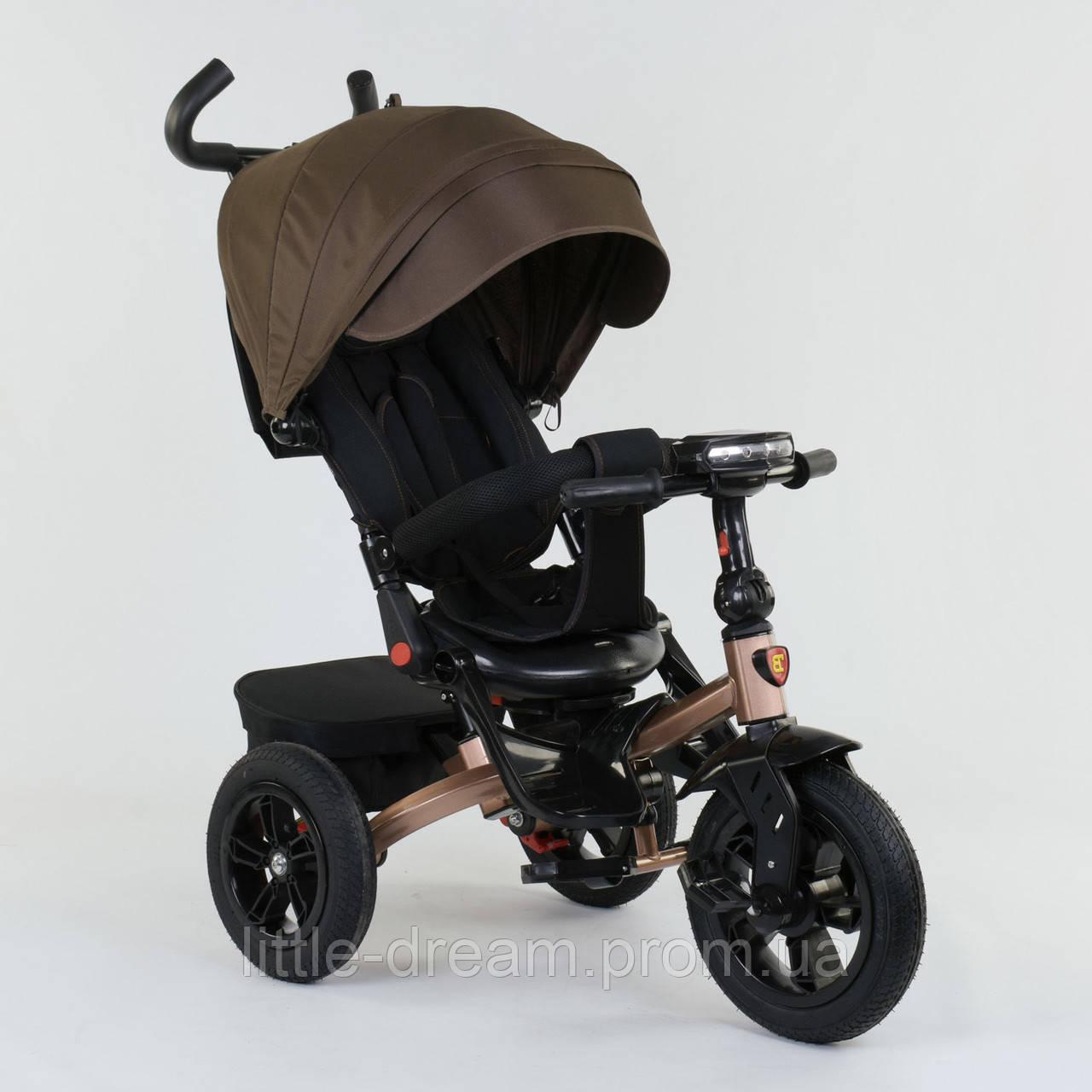 Велосипед 3-х колёсный Best Trike с поворотным сиденьем 9500 - 2620, складной руль, русское озвучивание, надувные колеса, свет