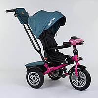 Велосипед 3-х колёсный Best Trike с поворотным сиденьем 9288 В - 4265, складной руль, русское озвучивание, надувные колеса, пульт включения света и