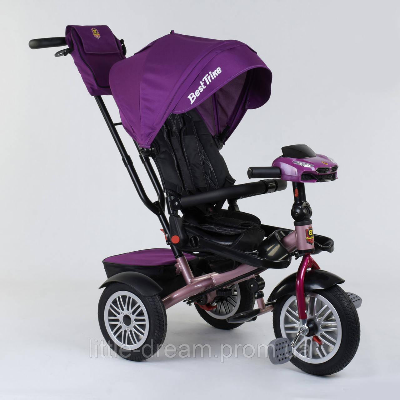 Велосипед 3-х колёсный Best Trike с поворотным сиденьем 9288 В - 3920, складной руль, русское озвучивание, надувные колеса, пульт включения света и