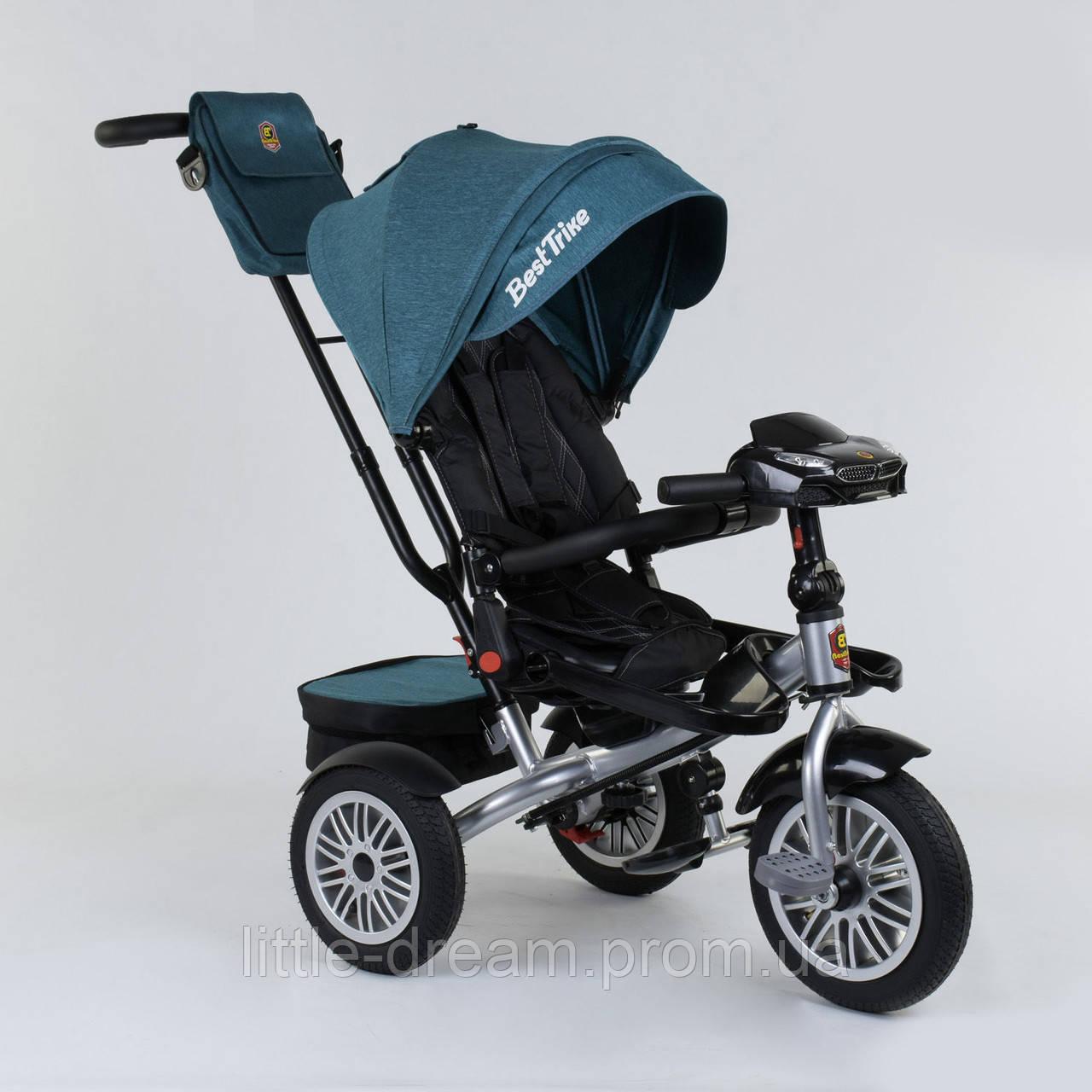Велосипед 3-х колёсный Best Trike с поворотным сиденьем 9288 В - 1690, складной руль, русское озвучивание, надувные колеса, пульт включения света и