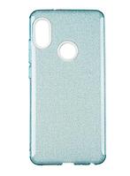 Чехол Remax Glitter Silicon Case для Samsung Galaxy A40 A405 голубой (самсунг галакси а40)