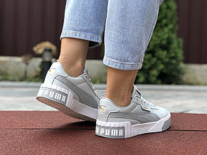 Женские кроссовки Puma Cali Bold,серые с белым 36р,41р, фото 2
