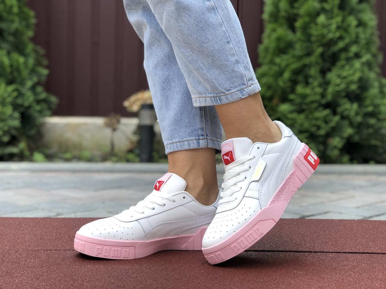Женские кроссовки Puma Cali Bold,белые с розовым