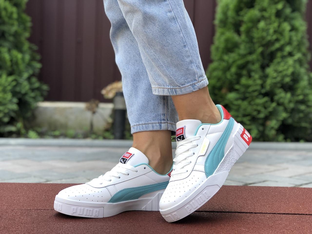 Женские кроссовки Puma Cali Bold,белые с мятным 39р
