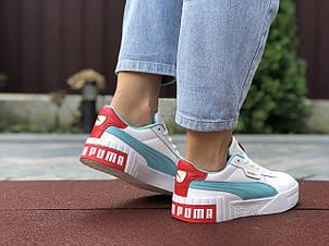 Женские кроссовки Puma Cali Bold,белые с мятным 39р, фото 2