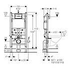 Комплект: Roca GAP Rimless A34H47C0 подвесной унитаз с сиденьем slow-closing, Geberit Duofix 458.126.00.1, фото 2