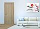 Двери межкомнатные Новый Стиль Колори Сакура Глухие 70 ПВХ Delux Золотая Ольха, фото 2
