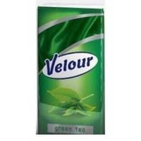 """Носові хустинки """"VELOUR"""" Зелений чай /350"""