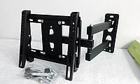 Крепление - кронштейн для ТВ от 14 до 40 дюймов наклонно-поворотное нагрузка до 25 кг