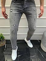 Мужские джинсы серые 18252