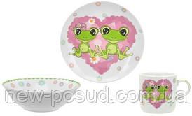 Детский набор столовой посуды Limited Edition Happy Frogs из 3 предметов (C556)