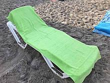 Пляжное махровое  полотенце 70 на 200 см Турция зеленое