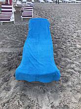 Пляжное махровое  полотенце 70 на 200 см Турция синее