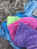 Пляжное махровое  полотенце 70 на 200 см Турция синее, фото 4