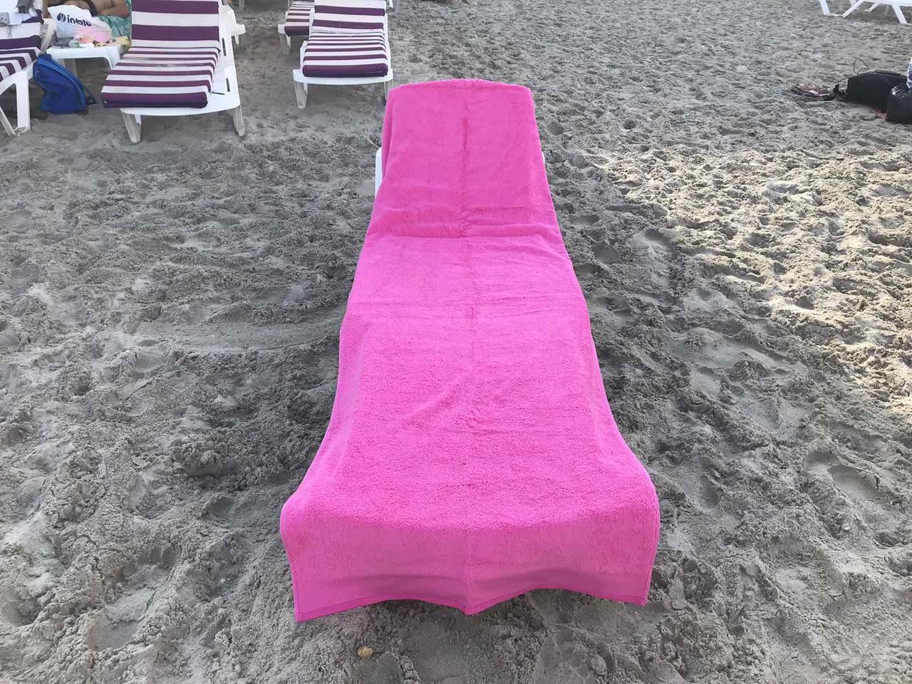 Пляжное махровое  полотенце 70 на 200 см Турция розовое