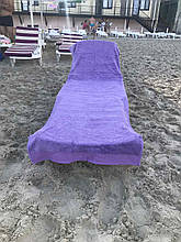 Пляжное махровое  полотенце 70 на 200 см Турция фиолетовое