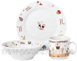 Набор детской посуды Limited Edition Sweet Happiness 3 предмета (D150405)