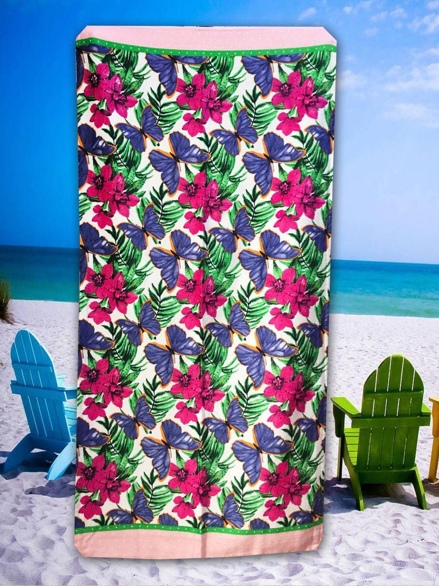 Пляжное махровое  полотенце 75 на 150 см Турция 3D принт