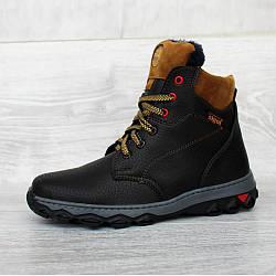 Підліткові черевики зимові чорного кольору ботинки (Сгд-22ч)