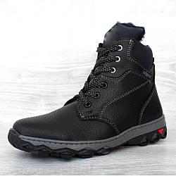 Підліткові зимові черевики для хлопчиків ботинки (Сгд-23чсн)