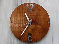 Красивые настенные часы из дерева «12-6» Цвет Mahogany (Красное дерево)