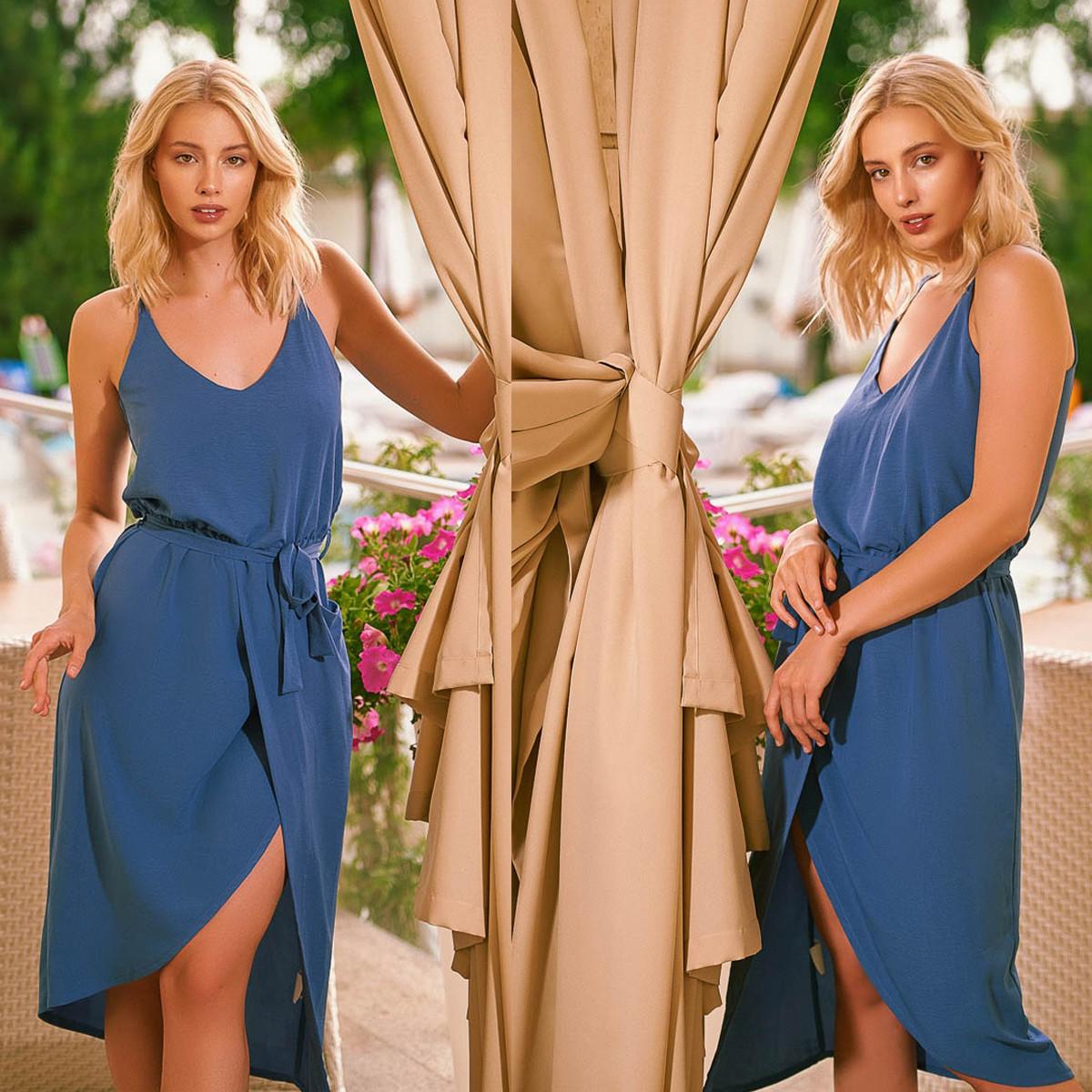 """Платье синее летнее тонкое """"Лаура"""""""