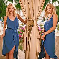 """Платье синее летнее тонкое """"Лаура"""", фото 1"""