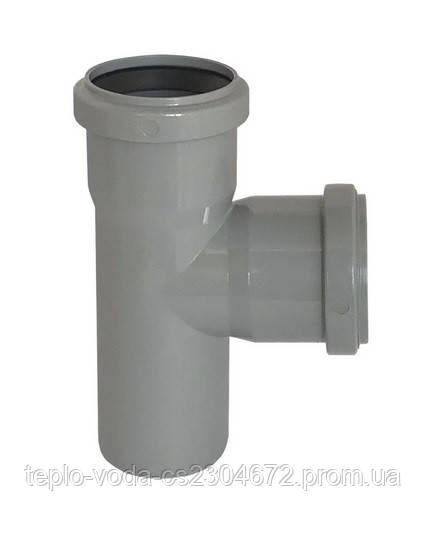 Тройник 50х90 для канализации Wavin