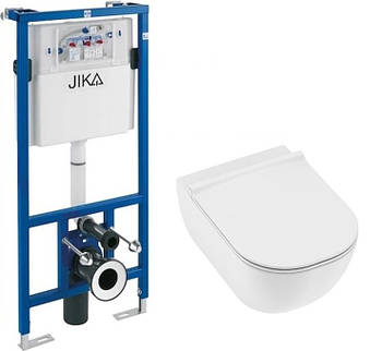 Комплект унитаз подвесной Jika Mio H8207140000001 + Инсталляция Jika H8956520000001