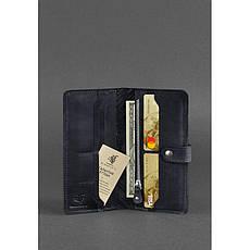 Кожаное женское синее портмоне 7.0 Инди, фото 3