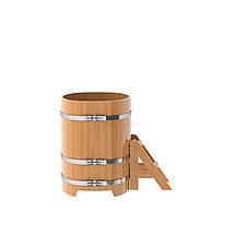 Купель для бани овальная натуральная лиственница BENTWOOD 760X1160 светлая 480 литров, фото 2