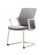 Кресло на полозьях конференц Enrandnepr FLO white белый серый