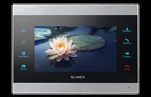 Абонентська відеопанель домофона Slinex SL-07IP silver + black