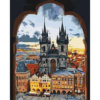"""Акриловая картина по номерам на холсте городской пейзаж """"Злата Прага"""" 40х50, 3 уровень сложности"""