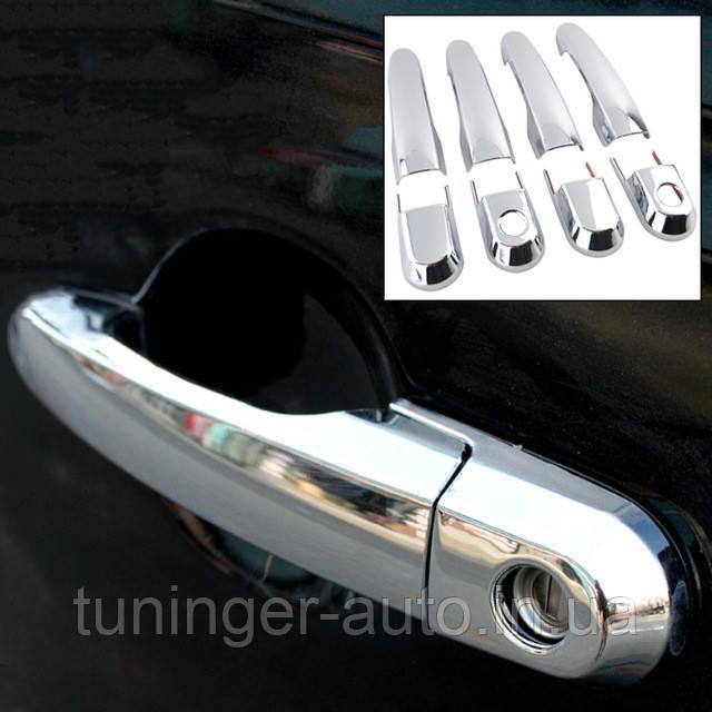 Хром-накладки на ручки Hyundai Tucson 2004-2011 (Avtoclover/Корея)