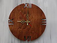 Интерьерные настенные часы «Римские цифры» Цвет Mahogany (Красное дерево)