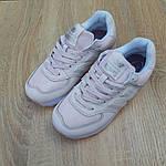 Женские кроссовки New Balance 574 (бледно-розовые) 20148, фото 7