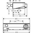 Термостат HANSGROHE ECOSTAT SELECT для душа 13171400, фото 3