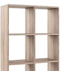 Стеллаж для дома,❤️❤️❤️ перегородка, книжный шкаф из ДСП 8 открытых отсека, Дуб Сонома, фото 2