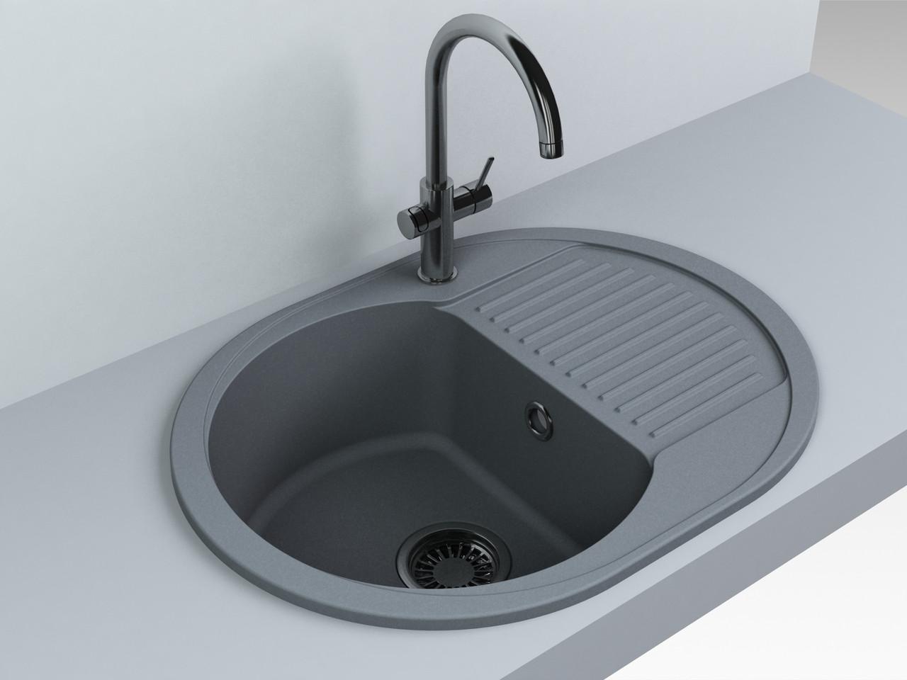 Кухонная мойка Fancy Marble Yuta, 102067013, gray