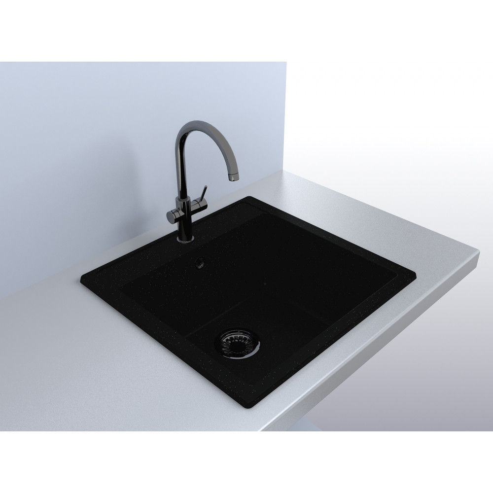 Кухонная мойка Fancy Marble Bodrum 510 black