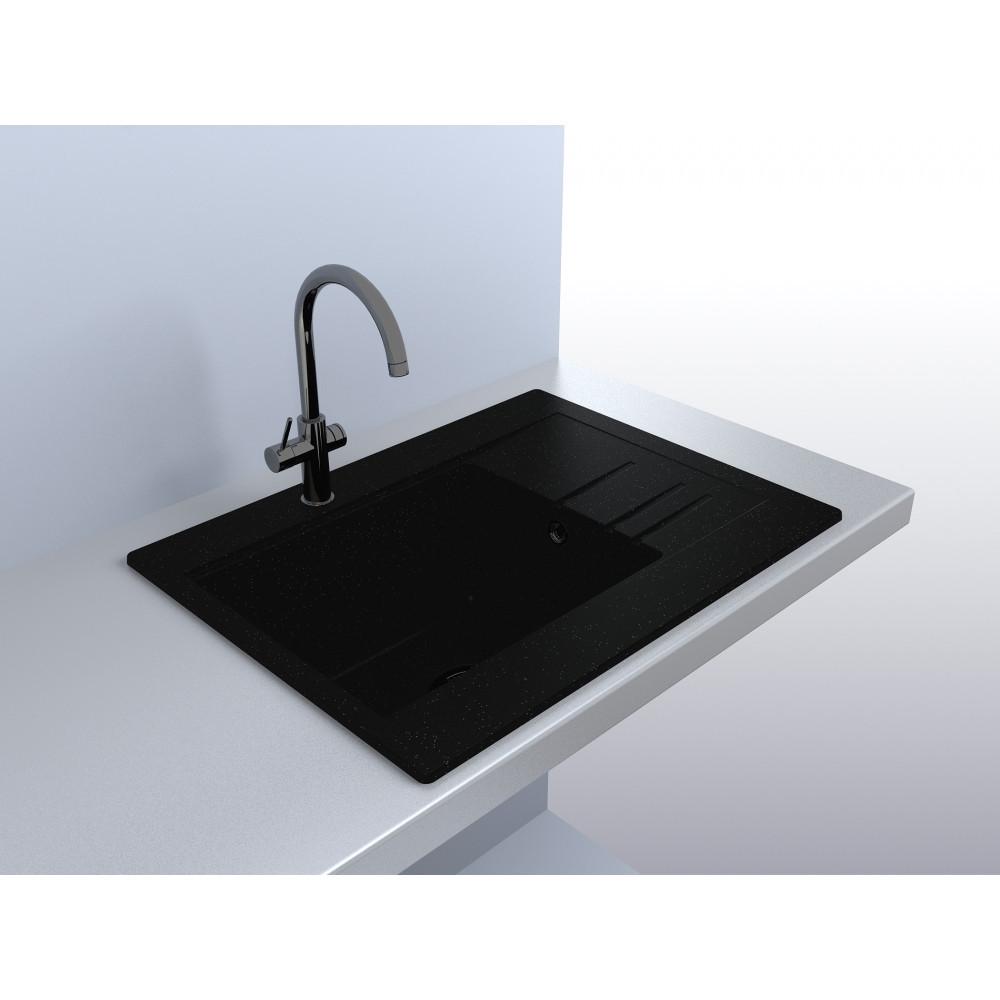 Кухонная мойка Fancy Marble Bodrum 650 black