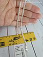 Серебряная цепь Скрепка (длина 50 см, вес 13.8 грамм). Ручное плетение. 925 проба, фото 3
