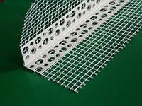 Уголок пластиковый с ссеткой, 3м (полка 20) 7х7 (белый)(шт.)