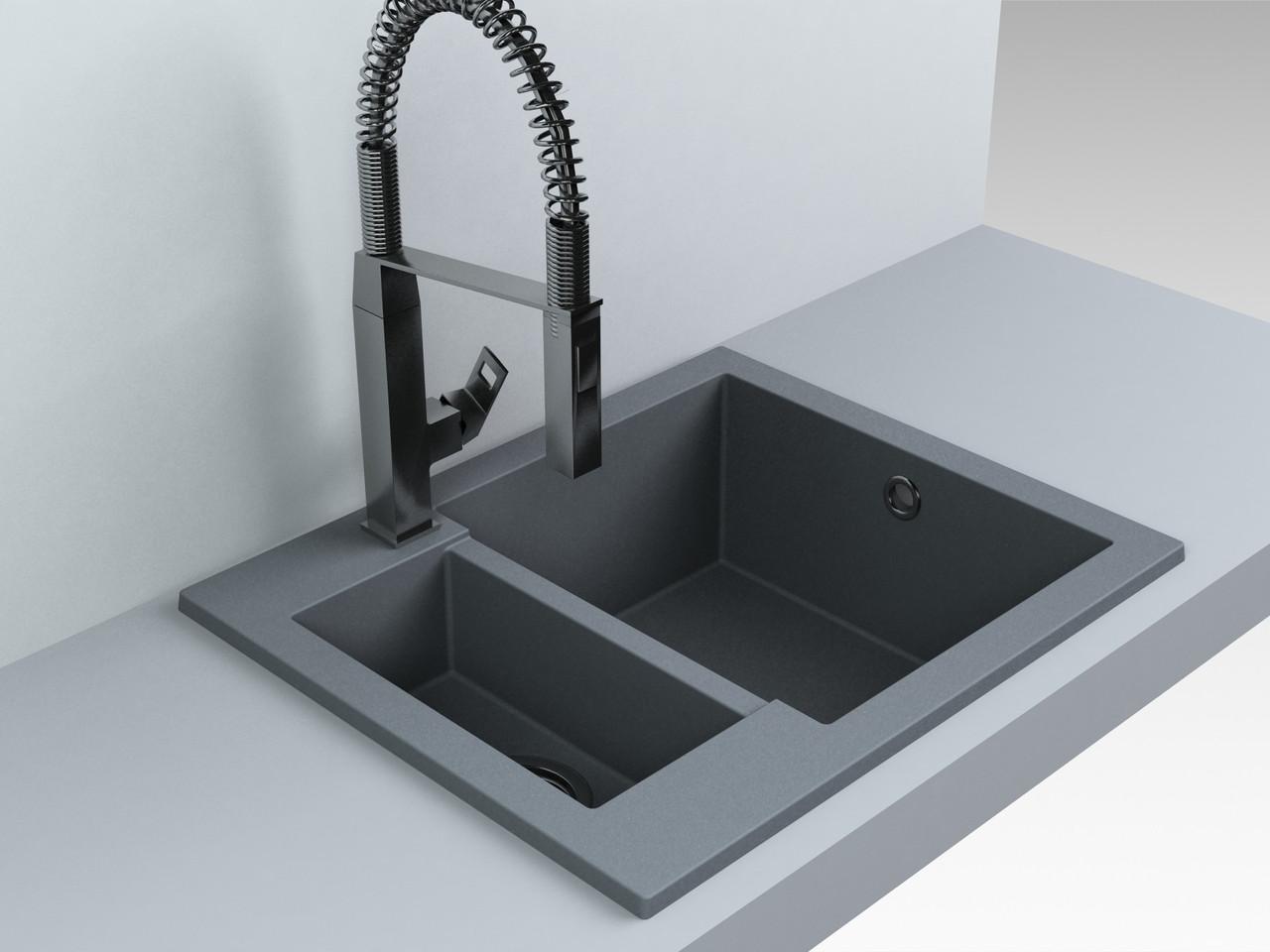 Кухонная мойка Fancy Marble Arizona (1,5 чаши),105067013 , gray