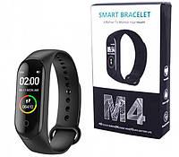 Фитнес браслет М 4 Фитнес трекер , фитнес часы цветной экран